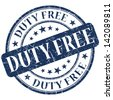duty free stamp - stock photo