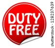 duty free sticker - stock photo