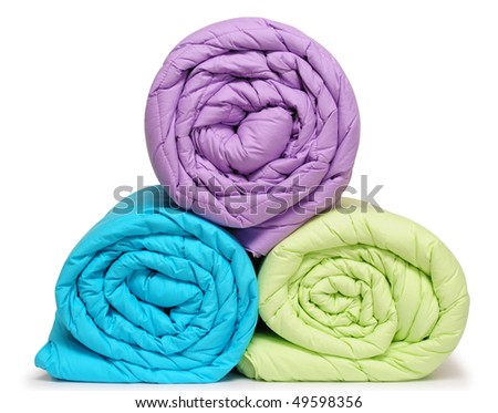 Duvet roll. Isolated - stock photo