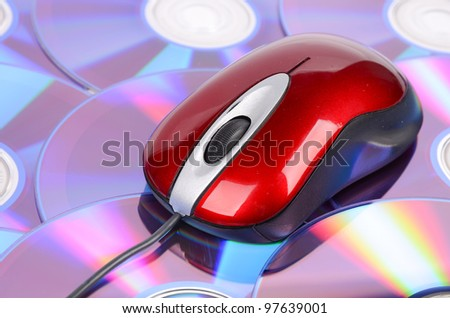 DVD and computer mouse