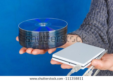 DVD and Mobile Hard disk