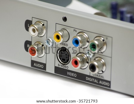 DVD back panel with audio video connectors