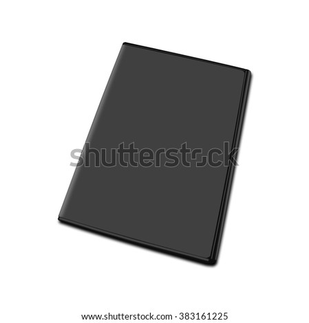 DVD box isolated on white