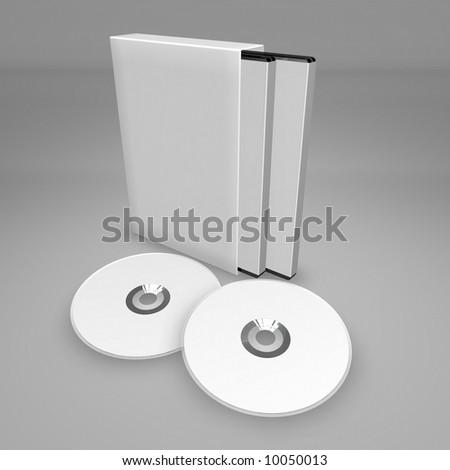 DVD Box Set - stock photo