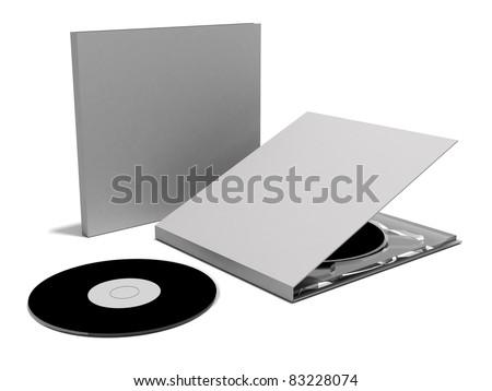 dvd case - stock photo