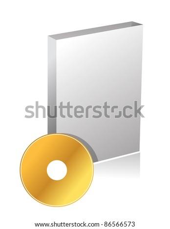 DVD case and disc illustration design - stock photo