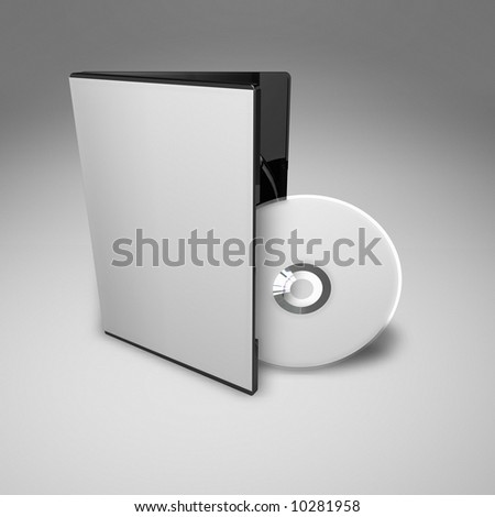 DVD Case from high angle - stock photo