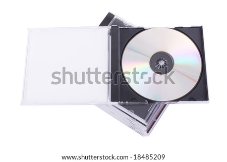 DVD case isolated on a white background