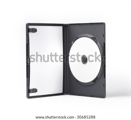 DVD Case isolated on white background - stock photo