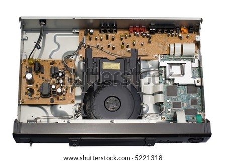 DVD CD Player Circuit Board and Laser Beam Ensclosure - stock photo