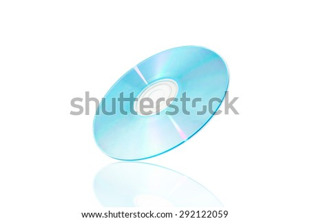 DVD,CD rom disk with reflex - stock photo