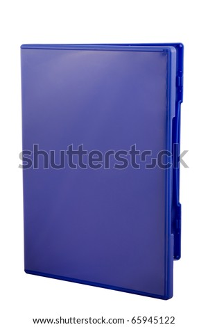 DVD Cover isolated over white background with copyspace