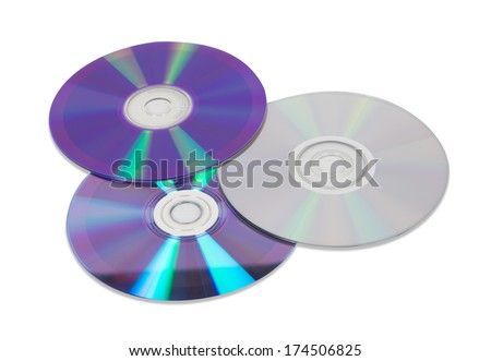 DVD disc isolated - stock photo
