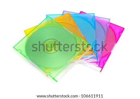 Dvd disk boxes - stock photo