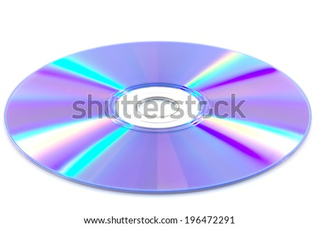 DVD disk isolate on white background - stock photo