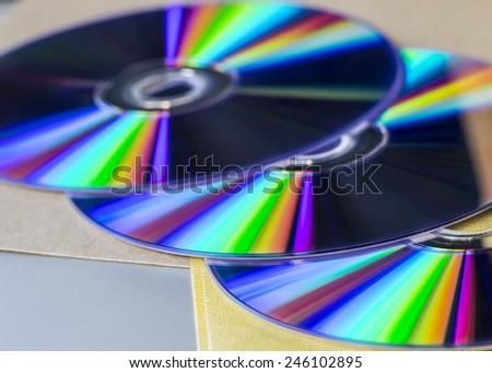 DVD drive on laptop computer. - stock photo