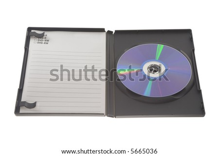 DVD in jewel case isolated on white background