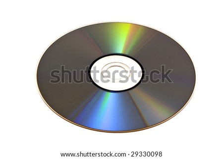DVD isolated on white background