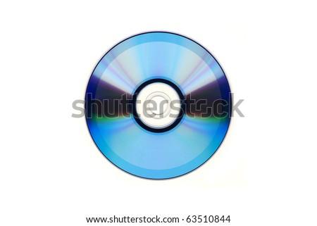 DVD isolated on white background - stock photo