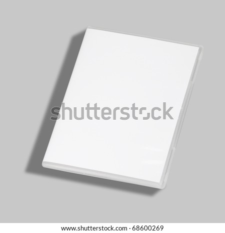 DVD or CD case isolated on white with a clipping path - stock photo