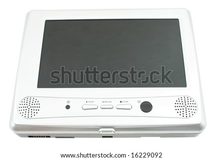 dvd player on white background - stock photo