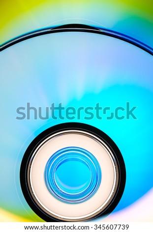 DVD rom - stock photo