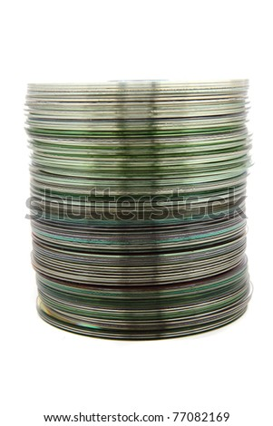 dvd spindle - stock photo