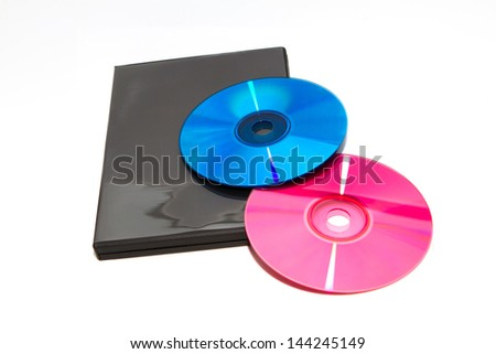 DVD with box isolated on white background