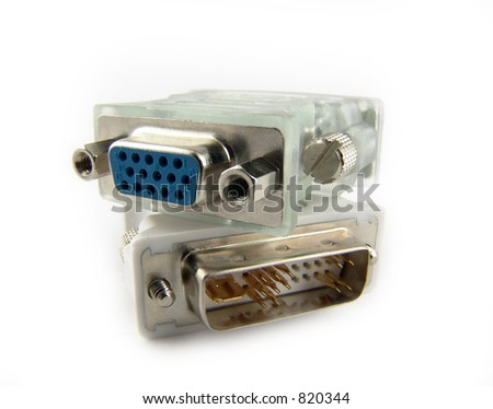 DVI/D-SUB adapters for LCD/CRT monitors