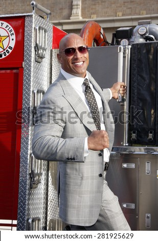 Dwayne Johnson at the Los Angeles premiere of 'San Andreas' held at the TCL Chinese Theatre IMAX in Hollywood, USA on May 26, 2015.