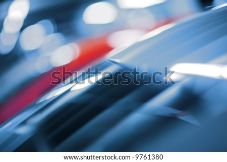 Dynamic abstract blurred background, shallow DOF. - stock photo