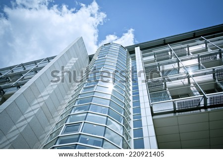 Dynamic and modern architecture - stock photo
