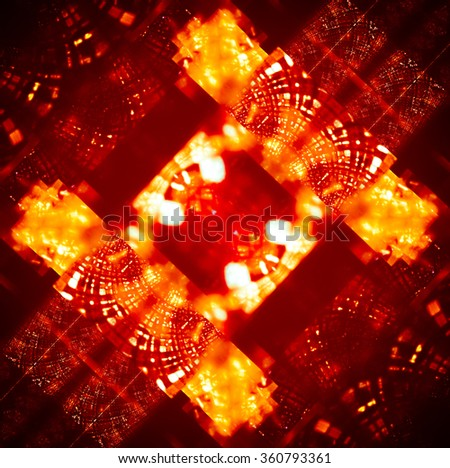 Dynamic and passionate abstraction with spectacular elements. The texture is like a gold inlay with mirrored reflections of light on a chocolate background.It sends a festive mood. - stock photo