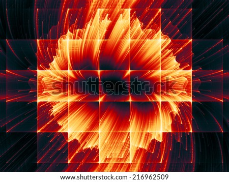 Dynamic Background series. Backdrop of  fractal motion textures to complement your design on the subject of science, technology and design - stock photo