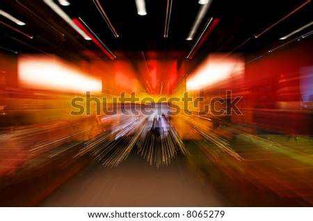 Dynamic background with multicolor lights