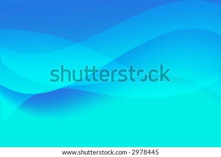 Dynamic blue waves background - stock photo