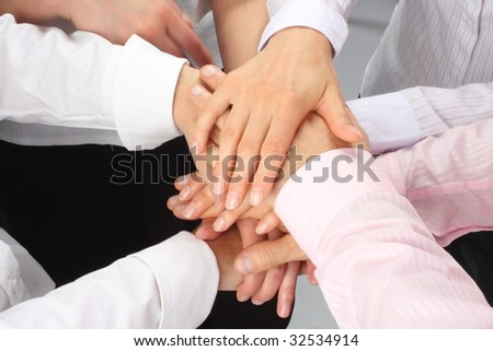dynamic businessteam hands