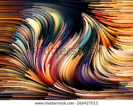 Dynamic Color series. Artistic background made of streams of paint for use with projects on forces of nature, art, design and creativity - stock photo