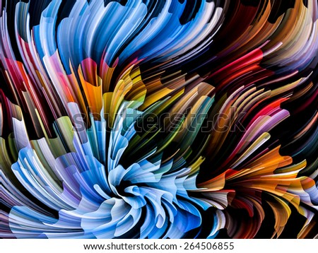 Dynamic Color series. Composition of streams of paint suitable as a backdrop for the projects on forces of nature, art, design and creativity - stock photo