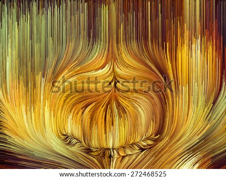 Dynamic Color series. Creative arrangement of streams of paint as a concept metaphor on subject of forces of nature, art, design and creativity - stock photo