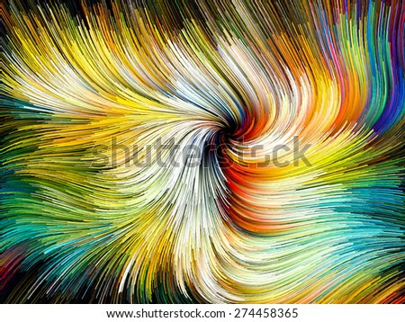 Dynamic Color series. Design made of streams of paint to serve as backdrop for projects related to forces of nature, art, design and creativity - stock photo