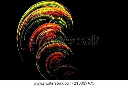 Dynamic colourful twisting tornado fractal abstract background - stock photo
