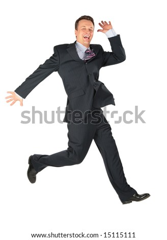 dynamic happy businessman