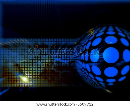 Dynamic hi-tech abstract background design series - stock photo