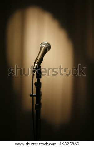 Dynamic microphone - stock photo