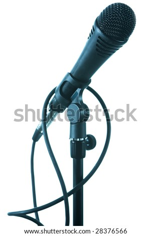 dynamic microphone is isolated