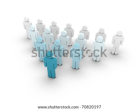 Dynamic network growth. Illustration - stock photo