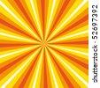 Dynamic sunburst colour explosion. - stock photo