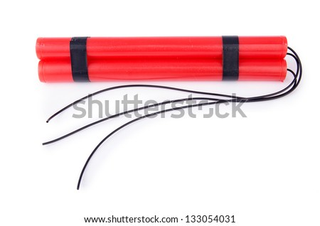 Dynamite isolated on the white background - stock photo