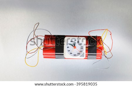 dynamite isolated on white - stock photo